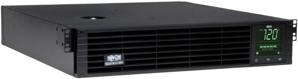Tripp Lite SmartPro 120V 3kVA 2.88kW Line-Interactive Sine Wave UPS, 2U Rack/Tower, Extended Run, Pre-installed WEBCARDLX Network Interface, LCD Display, USB, DB9 Serial, 2 & 3 Year Warranties, $250,000 Insurance (SMART3000RMXLN)