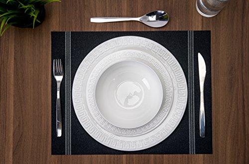 Roscher 32-Piece Corfu Bone China Microwave & Dishwasher Safe Dinnerware Set (Service For 8)