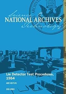 Lie Detector Test Procedures, 1954