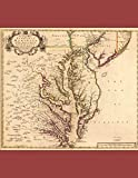 2019: Calendar Book Planner 8.5 x 11 in. 1718 Chesapeake region map Maryland Virginia Delaware Pennsylvania New Jersey