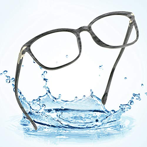 LifeArt Plastic Blue Light Blocking Glasses,Oval Computer Reading Glasses,Transparent Lens,Reduce Headaches&Eyestrain,Stylish for Women/Men+2.25 Magnification - Pc Wood Guardian