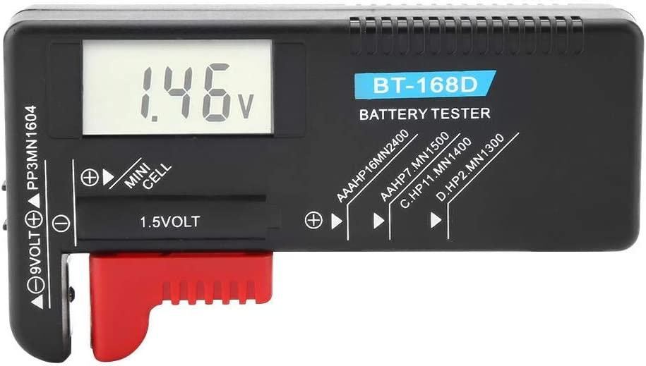Akozon Universal Digital Battery Tester LCD AA//AAA//C//D//9V//1.5V Button Cell Battery Volt Checker BT-168D Voltage Meter Digit Indicates Power Level Test Multiple Sizes of Batteries