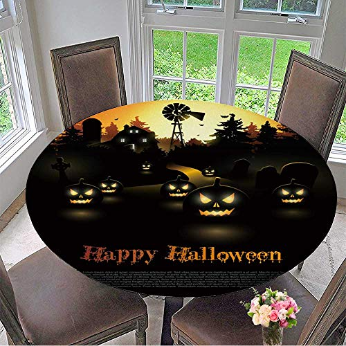 Mikihome Chateau Easy-Care Cloth Tablecloth Haunted Farmhouse in The Woods Halloween Poster for Home, Party, Wedding 67