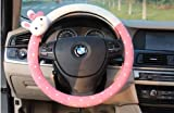 steering wheel cover cute - 1pc Cute Lovely Plush Rabbit Car Auto Steering Wheel Cover Case (4 color choice) (Pink)