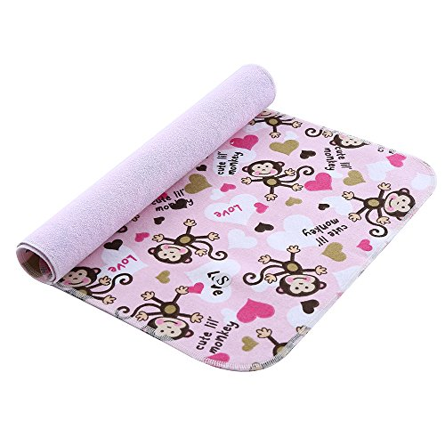MOMLOVES - Baby Waterproof Washable Diaper Flannel Changing Mat Pad (Hip-Hop Monkey 27.5