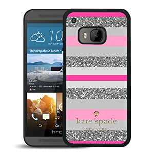 Fashionable And Unique Designed Kate Spade Cover Case For HTC ONE M9 Black Phone Case 164