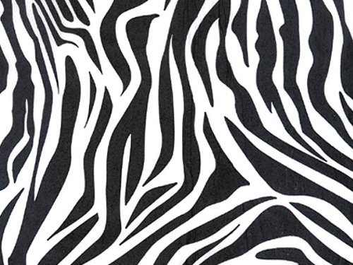 Zebra Tissue Paper 20 Inches X 30 Inches - 24 Sheet Pack