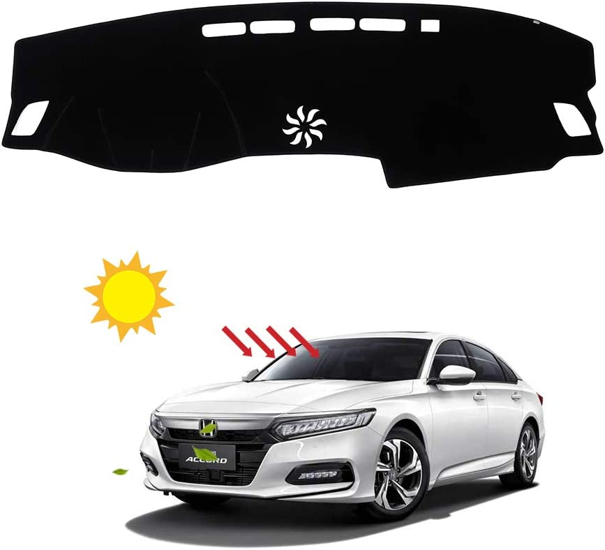 BLAKAYA Compatible with Auto Car Dashboard Carpet Dash Board Cover Mat Dash Protector for 2018 2019 2020 Honda Accord Sun Cover Pad