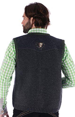 German knitted waistcoat Ramsau SW darkgrey-grass by Spieth & Wensky (Image #3)