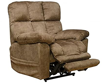 Remarkable Catnapper Lofton 4867 Dual Motor Power Lift Infinite Position Recliner Chair With Extended Ottoman And Printed Suede Fabric 300 Weight Capacity Silt Dailytribune Chair Design For Home Dailytribuneorg