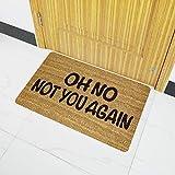 CqmzpdiC Funny Letter Rubber Non-Slip Water Absorption Carpet Bathroom Hallway Floor Mat Water Absorption Non-Slip Anti-Skid Durable Mildew Resistant Comfortable Practical Decorate Floor