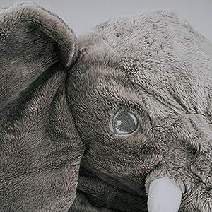 smartpillow XXL Elefant Kuscheltier I 60cm Plüschtier Groß Grau Geschenk für