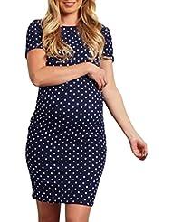 TLoowy™ Maternity Dress, Clearance! Women Casual Short Sleeve Striped Pregnancy Nursing Mini T-Shirt Dresses Clothes