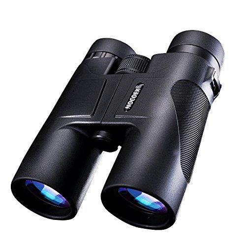 NOCOEX® 10X42 Fernglas Compact Wasserdichtes Dach Prism Binoculars - ideale Wahl für die Jagd Birding Wandern und Outdoor-Anzeigen schwarz