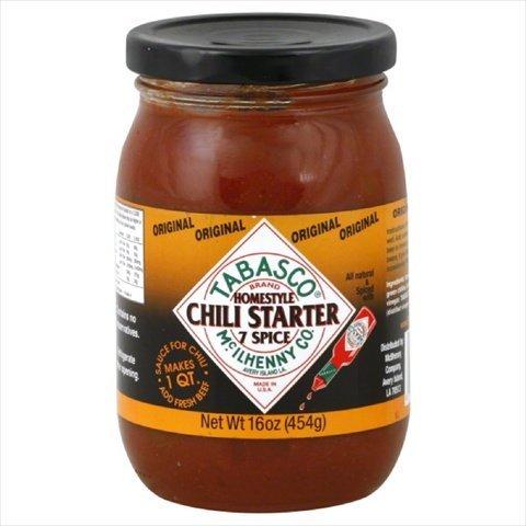 Tabasco Sauce 7spice Chili, 16 oz, pack of 6