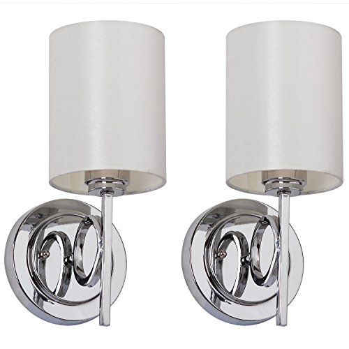 (Safavieh Lighting Collection Ventura Chrome 13.1-inch Wall Sconce (Set of 2))