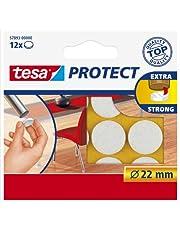 Tesa Oppervlaktebeschermers, Anti Scratch Zelfklevend Vilt Rond 18 Mm Dia, Wit (16 Pads) (Oude Versie) 22 mm Diameter/12 Pads Kleur: wit