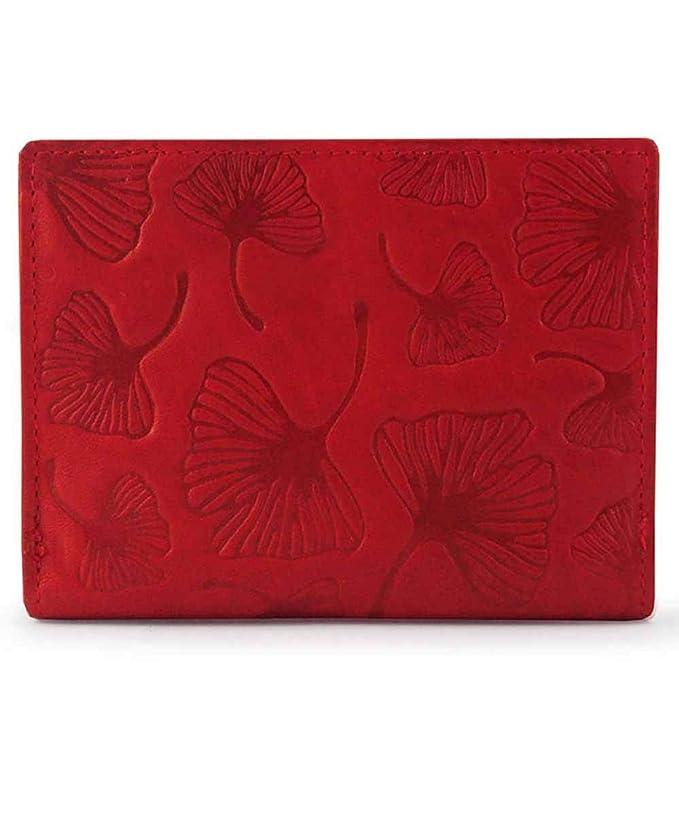 Acq Leaves Monedero Billetero Piel Rojo 12cm 0.12Kg: Amazon ...