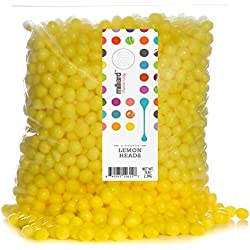 Yellow Lemon Heads - 2 Lb. Resealable Bag