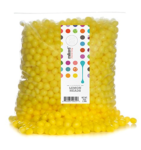 Yellow Lemon Heads - 2 Lb. Resealable - Heart Lemon Drops