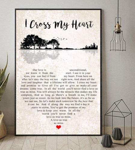 Amazon Com George Strait I Cross My Heart Art Wall Canvas Framed Poster 11 X 14 Posters Prints