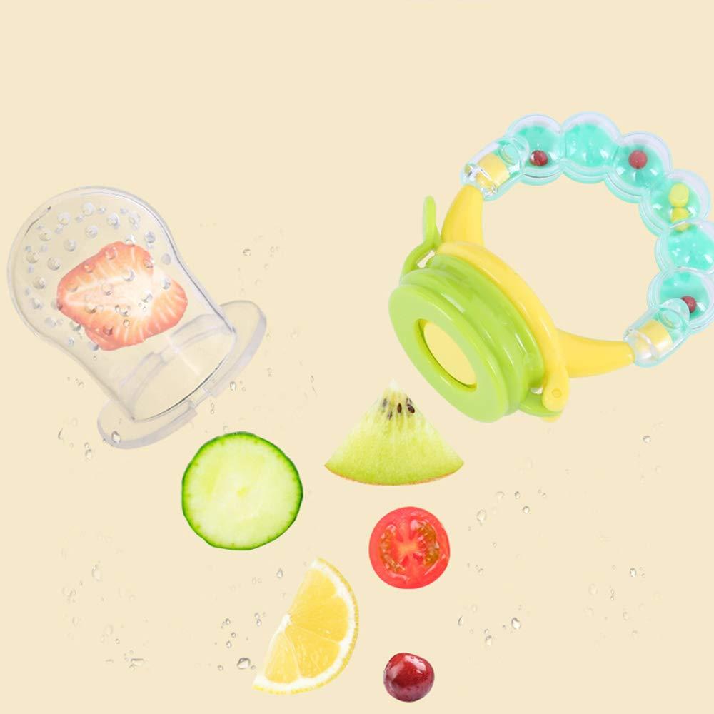 Ogquaton Chupete para beb/é Alimentador para beb/és Herramienta de alimentaci/ón Alimentador de destete Pasta alimenticia para frutas y verduras suaves 3 piezas de color al azar