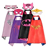 Mizzuco Cartoon Capes with Felt Masks Halloween Birthday Costume for Girls-4 PCS (4pc-new)