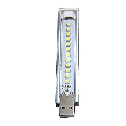 USB LED Luz de la Noche Lámpara Blanca fría 12LEDs 5V Bombilla para Lectura Gadget Notebook