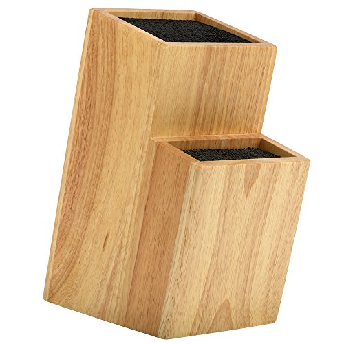 Mantello 2 Tier Universal Wood Knife Block Knife Holder Storage Organizer (Knife Block Slotless)