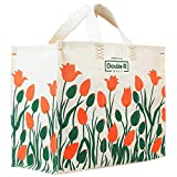 Double R 100% Pure Cotton Canvas Shopping Bags – Large Tote Heavy Duty Biodegradable Grocery Vegetable Bag
