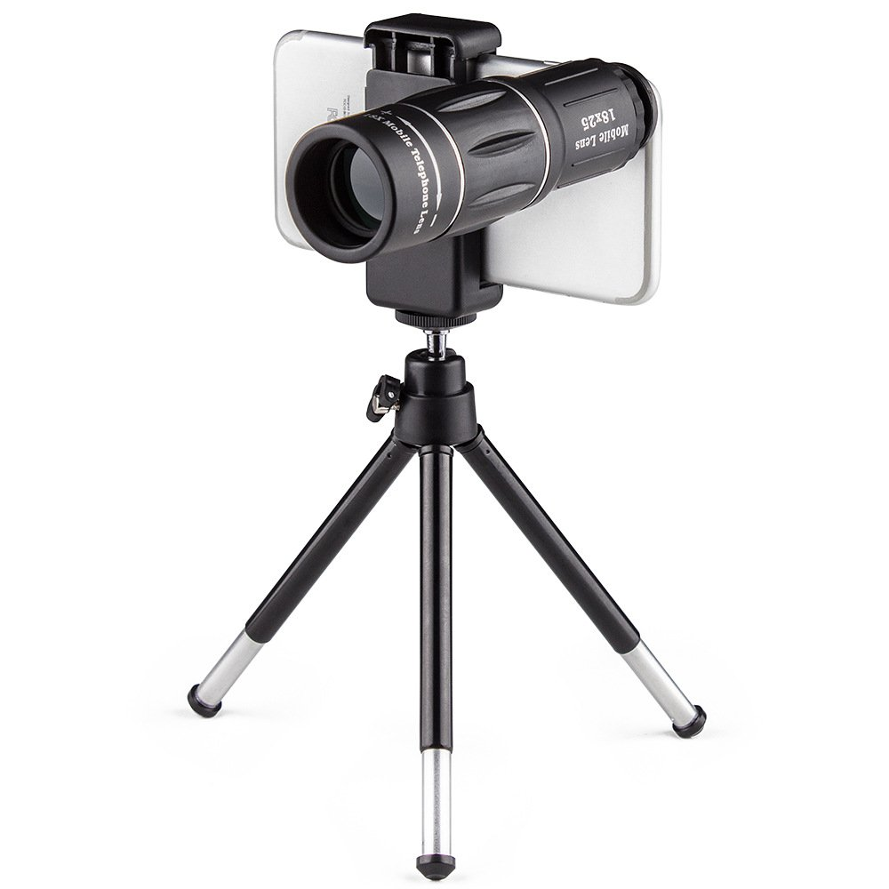 Cell Phone Camera telephoto Lens, 18X Zoom Telephoto Universal Clip On Lens Kit for iPhone 8/7/6S/6 Plus/5/4,Samsung, Android and Other Phones by Unknown