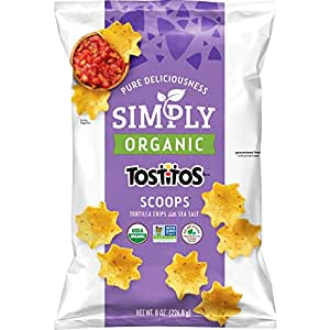 Simply Organic Tostitos Scoops! Tortilla Chips, 8 Ounce