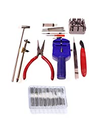 286 Pcs Watch Repair Set & Wrist Strap Adjust Pin Tool Kit Set Back Remover Fix With Double Spring Bars by KurtzyTM