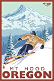 Timberline Lodge - Ski Mt. Hood, Oregon (24x36 Giclee Gallery Print, Wall Decor Travel Poster)