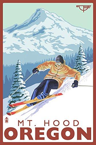 Ski Mt. Hood, Oregon - Timberline Lodge (12x18 Art Print, Wall Decor Travel ()