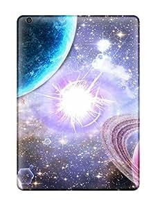 For Ipad Air Fashion Design Purple Sci Fi Case-JXRVWRF5905QXopz Sending Screen Protector in Free