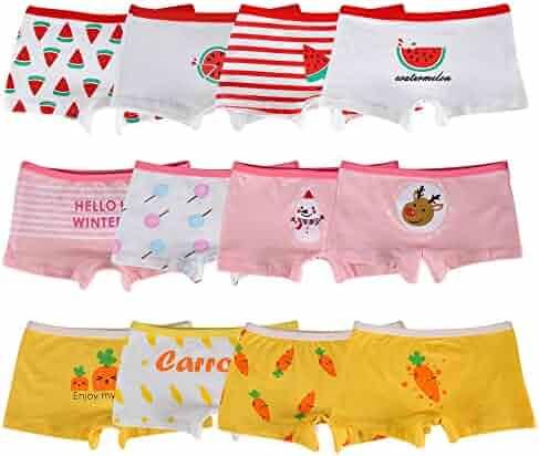 edcefc433 Closecret Kids Series Little Girls' Cotton Boyshort Panties Baby Assorted  Underwear(Pack of 12
