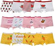 Closecret Kids Girls' Cotton Boyshort Panties Little Baby Assorted Underwear(Pack of