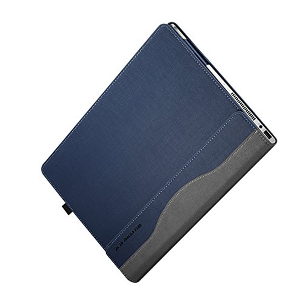 Hp Spectre X360 13.3 Inch Case ( Not Fit HP Spectre Series ), PU Leather Folio Stand Hard Cover for Hp Spectre 13.3'' 2 in 1 Laptop Sleeve, Blue by Veker (Image #8)