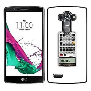EJOY---Cubierta de la caja de protección la piel dura para el / LG G4 / --Calculadora