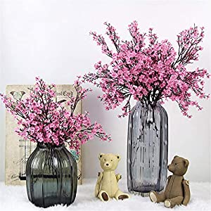 Cherry Blossoms Artificial Flowers Baby's Breath Gypsophila Fake Flowers DIY Wedding Decoration Home Bouquet Faux Flowers Branch 98