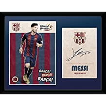 "FC Barcelona Messi Framed 16"" x 12"" Picture NEW"
