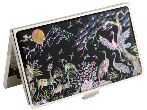 Mother of Pearl Deer & Crane Design Metal Stainless for sale  Delivered anywhere in USA