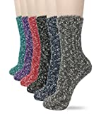 Eedor Womens Winter Knit Warm Thermal Crew Socks