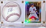 Kris Bryant Signed OML Baseball & Bowman Chrome Rookie Card RC - JSA COA Authenticated & Ultra Pro Display Case