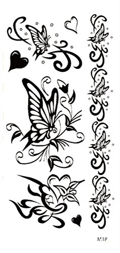 Butterflies Armband Tattoos - black arm band butterfly temporary tattoo face decor stickers