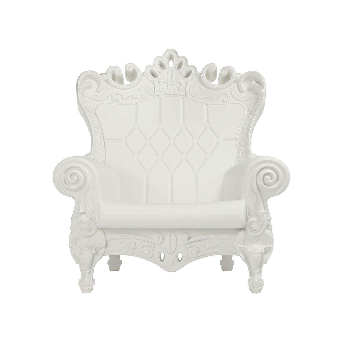 Design of Love - Slide Design - Little Queen of Love Baby armchair Milky White (Original made in Italy)