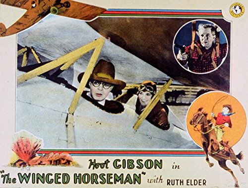 The Winged Horseman Broadsheet Movie (1929) Style A 11 x 14 Inches - 28cm x 36cm (Hoot Gibson)(Mary Elder)(Charles Schaeffer)(Allan Forrest)(Herbert Prior)