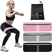 Booty 3 Resistance Bands for Legs and Butt Set, Exercise Bands Fitness Bands - Video Workout, Resistance Loops