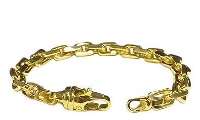 "95ce4c306b7053 14K Solid Yellow Gold Heavy Handmade Rolo Link Men'S Chain/Bracelet  8.5""-9.5"""
